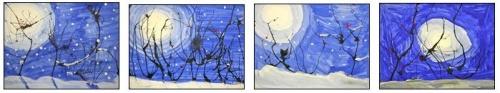 Arts visuels: paysages d'hiver