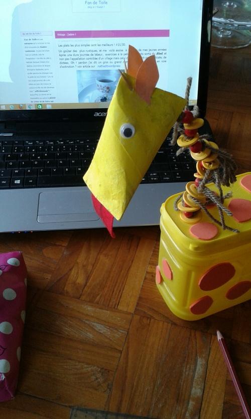 DIY.girafe ou comment recycler une boîte nesquick ?