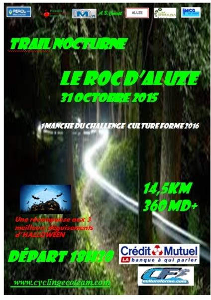 Trail d'Aluze 31 octobre 2015