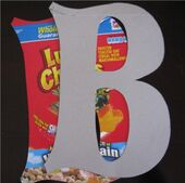 DIY Paper Mache Letters!!  Don't forget to give the boxtops to the school.