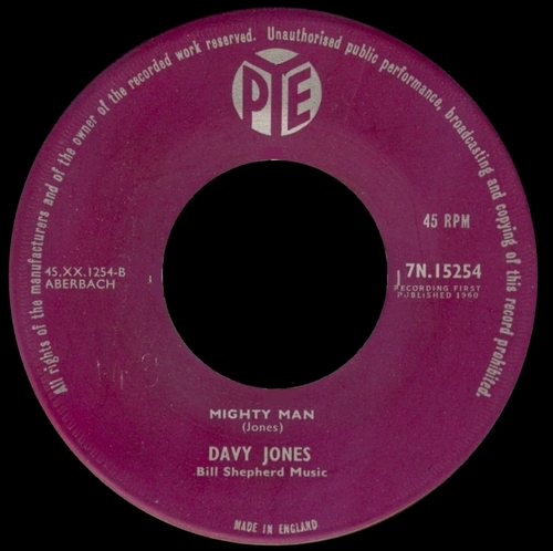 1960 : Single SP Pye Records 7N.15254 [ UK ]