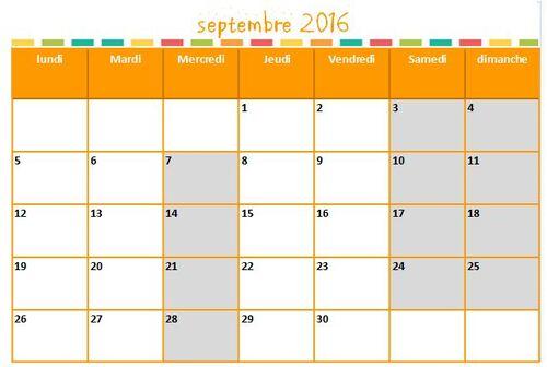 Calendrier zone C 2016-2017