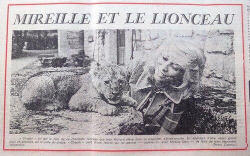 article dans le Dauphiné Libéré du 19 juillet 1971 ( archives Thierry Pajean)