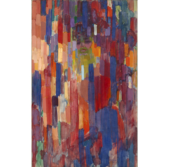 "František Kupka, ""Madame Kupka dans les verticales"", 1910-1911, Etats-Unis, New York, The Museum of Modern Art  	Hillman Periodicals Fund, 1956"
