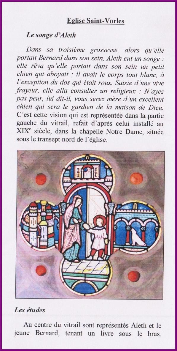 """Création d'un chemin """"saint Bernard"""" qui mène de Clairvaux à Fontenay"""