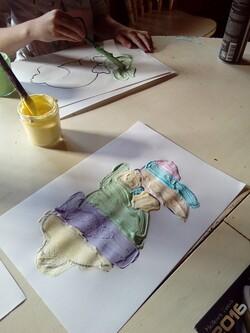 Peinture mousse
