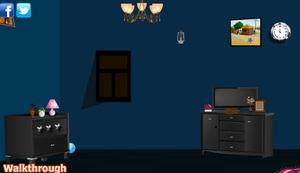 Jouer à Dark blue house escape