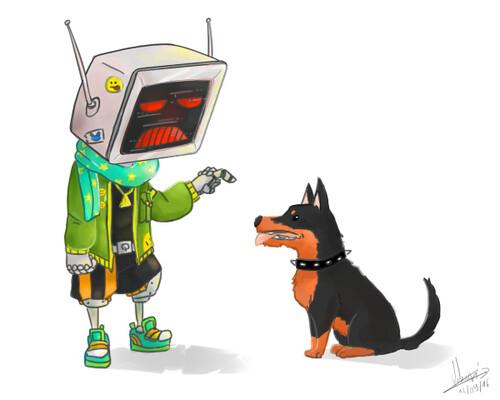 Chibi Boxy et son chien