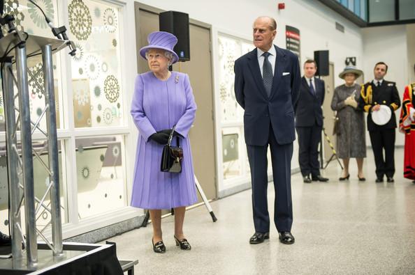 Elizabeth et philip à l'hôpital
