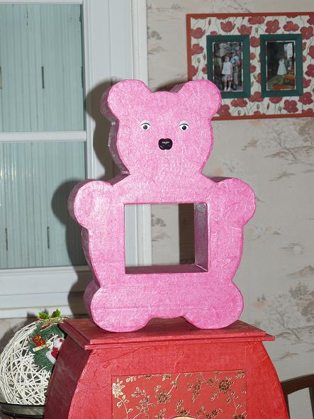 étagère ours rose