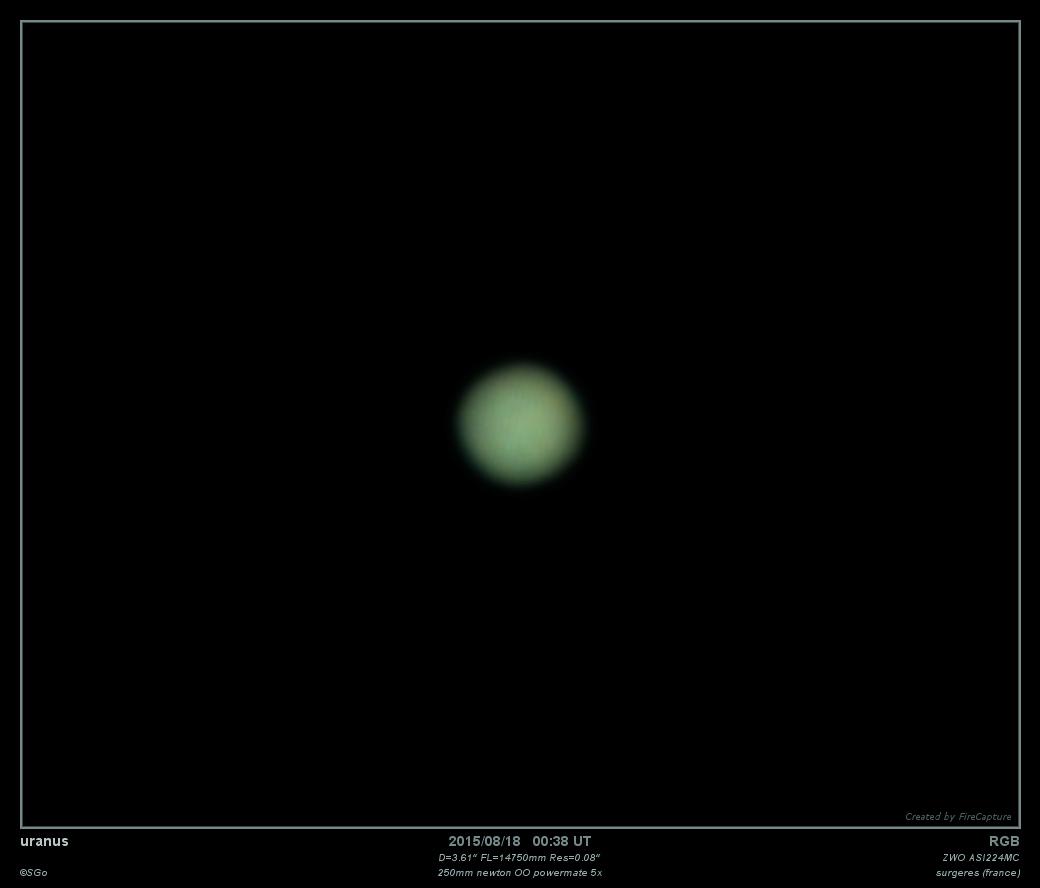 Uranus, couleur