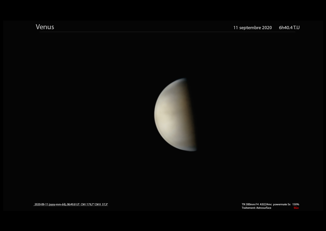 Venus le 11 septembre