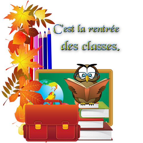 Gifs scintillants rentree des classes