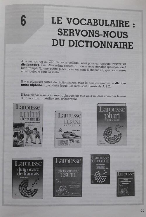 Comment et pourquoi utiliser un dictionnaire ?