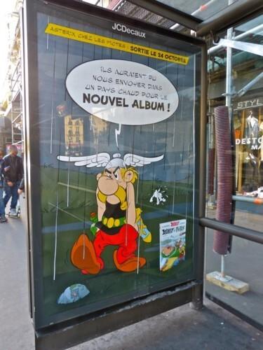 affiche Astérix chez les Pictes abri-bus