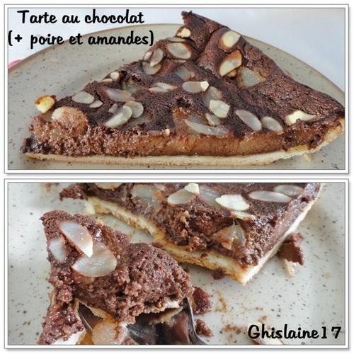 Tarte au chocolat (+ poire et amandes)
