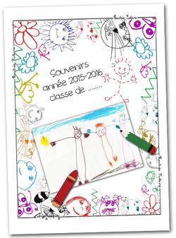 Couverture classeur de souvenirs de la classe