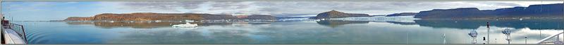 Panorama 225° aux reflets presque parfaits - Croker Bay - Devon Island - Nunavut - Canada