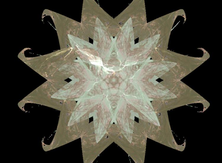 Fractales fond transparent page