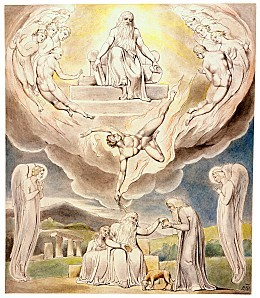 William Blake - Satan Going Forth from the Presence of the