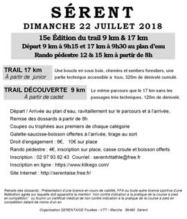 Trail de Sérent - Dimanche 22 juillet 2018