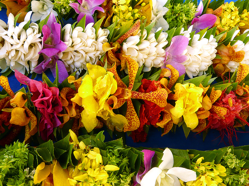 Détail - Marché au fleurs - Papeete - Tahiti