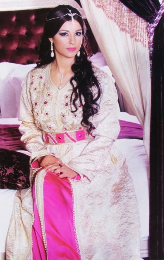 takchita 2015 en ligne en brocard pour mariage. de la haute couture marocaine TAK S1041