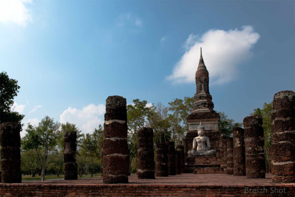 Wat Tra Phang Ngoen, Sukhothai - Le chédi en forme de bourgeon de lotus