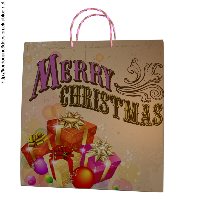 Tube sac de Noël (render-image)