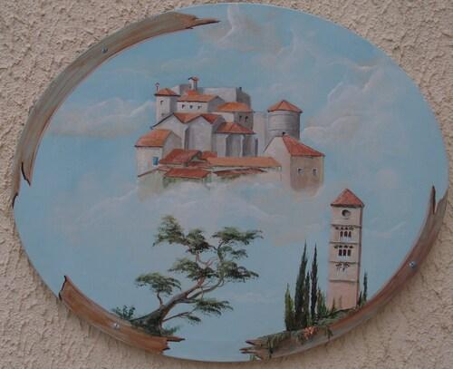 puissalicon  <arylique sur toile ovale 40x60>  2ém prix