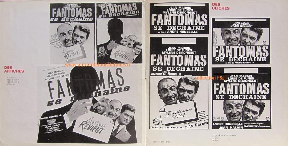 FANTOMAS SE DECHAINE -  LOUIS DE FUNES BOX OFFICE 1965
