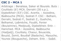 CSC-MCA 2-1 SAISON 2005/2006