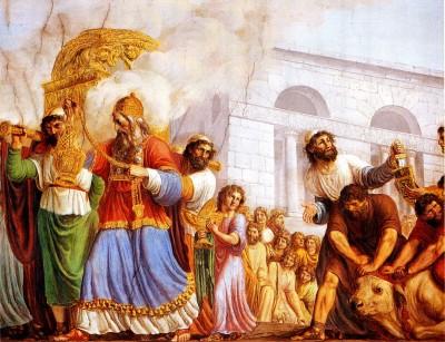 La mort de Saül. David roi
