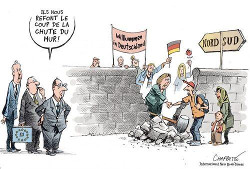 Dessins de presse (Chappatte) sur le thème des Migrations