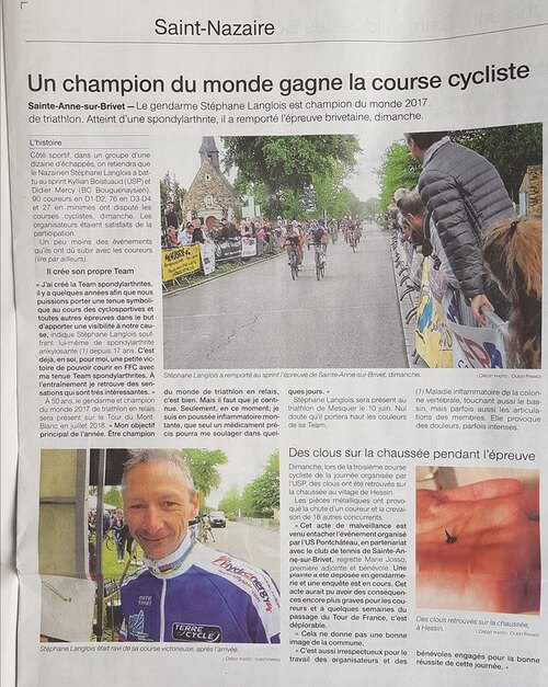 Bel article Ouest-france ...