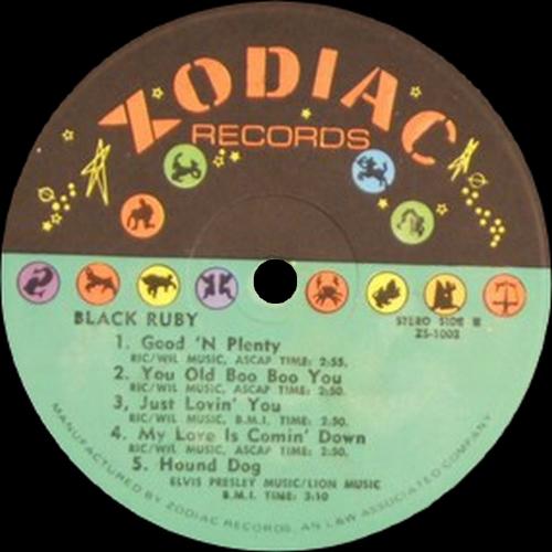 "Ruby Andrews : Album "" Black Ruby "" Zodiac Records ZS-LP 1002 [ US ]"
