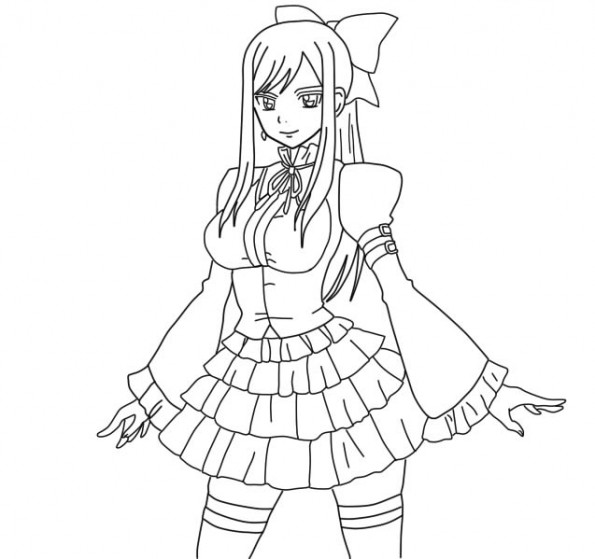 Coloriages fairy tail lucy et fairy tail - Fairy tail coloriage ...