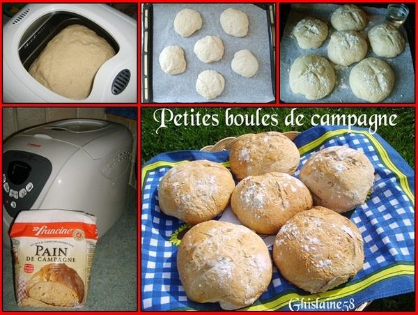 Petites boules de pain de campagne