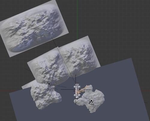 Setup de ma scêne dans l'écran 3D de Blender