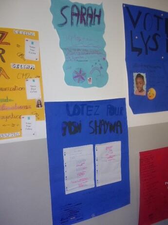 la campagne des délégués de classe en CM2a