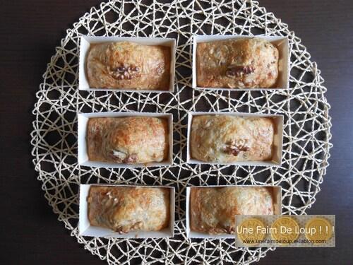 Minis cakes à l'emmental et aux noix