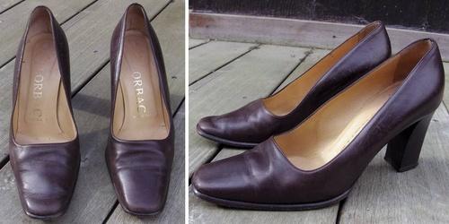 Chaussures vintage customisées