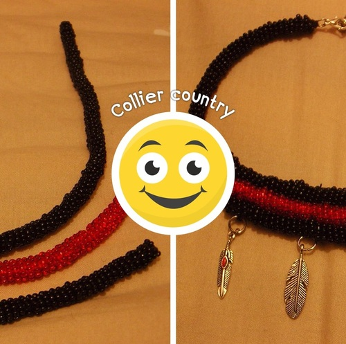 Collier country en perles de rocaille