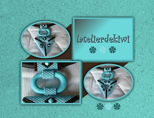 Collier 3D Turquoise-Chocolat