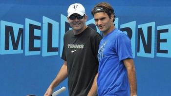Roger Federer entraînement