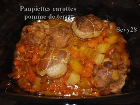 Paupiettes carottes pommes de terre (mijot'cook)