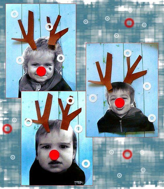 """Idée Pinterest : """"et si les élèves devenaient des rennes du Père Noël ?"""""""