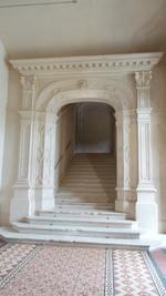 Entrée de l'escalier monumental, Trévarez