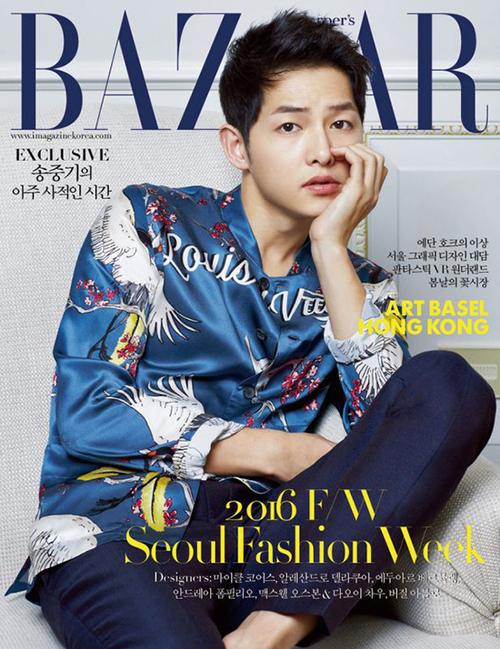 Song Joong Ki pour Harper's Bazaar
