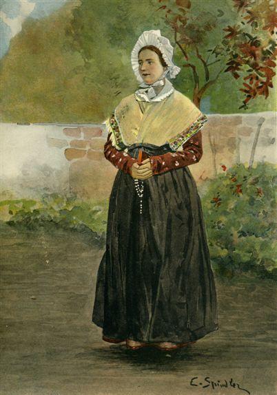 Les costumes alsaciens 96 : Belle du Sundgau